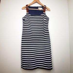 Michael Kors Striped Sleeveless Buckle Dress